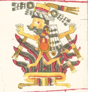 Ancient Aztec goddess of the maguey plant and fertility.